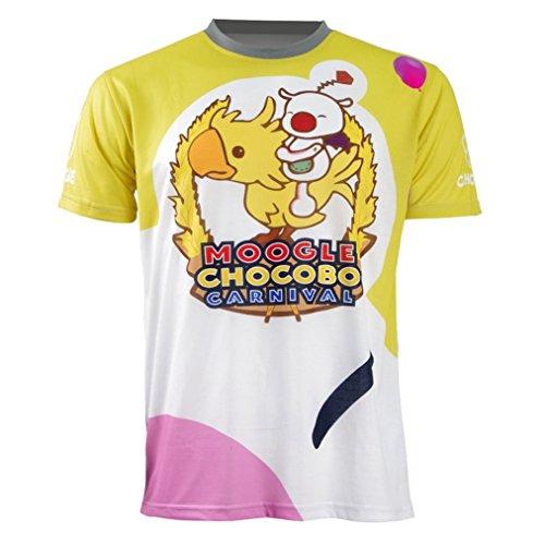 Qingningwenhua Unisex FF15 Dissidi PS4 Final Fantas Moogl T-Shirt Weste Cosplay Kostüme Schmuck Halskette Halsreif Ring Retro Kappe Hut Gerbutstag Geschenck (Moogl T-Shirt, Small)