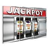 islandburner Bild Bilder auf Leinwand Jackpot auf Spielautomat. Dreidimensionales Bild. 3D Wandbild, Poster, Leinwandbild FTF