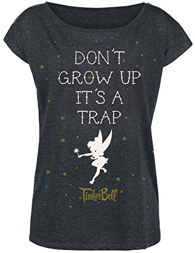 l - Don't Grow Up T-Shirt dunkelgrau meliert XL ()