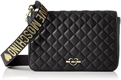 Love Moschino - Borsa Nappa Pu Trapuntata Nero, Shoppers y bolsos de hombro Mujer, Schwarz (Black), 18x29x6 cm (W x H D)