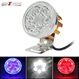 #10: AllExtreme Universal 6 LED Round Fog Auxiliary Light with Metal Stand for All Bikes and Scooters Geared/Non-Geared And Universal For Cars (Silver)