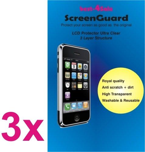 3x Displayschutzfolie Tablet Samsung ATIV TAB 3 P8510 10.1