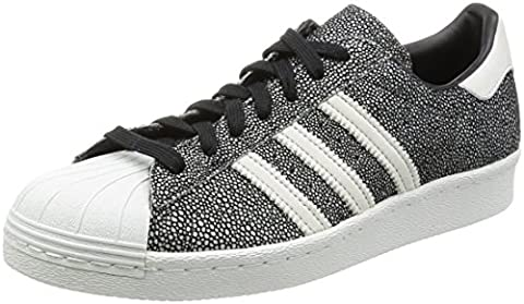 Adidas - Superstar 80S - S75837 - Couleur: Blanc-Noir-Gris - Pointure: 42.0