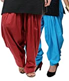 NGT Maroon And Sky Blue Pure Cotton Pati...