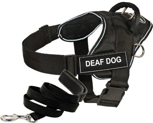 Dean & Tyler-DT Fun Funciona cableado 1,8m Acolchado Correa de Cachorro, sordos Perro, XL, Negro