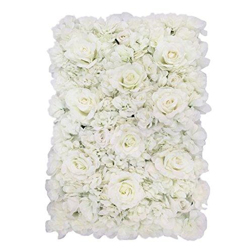 Blumen-wand (Gazechimp Künstliche Rosen Blumen Säule Kunstblumen Wand Schaufenster Straße Hochzeit Deko-Farbverlauf Serie - Farbverlauf # 1)