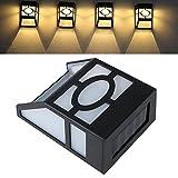 Wasserdicht solarbetriebene LED Wandhalterung Lampe Wegeleuchte Zaun Licht