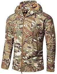 585c9d5a7422d YFNT Cappotti con Cappuccio Softshell UomoAbbigliamento tattico Militare  Caldo Camouflage Tattico Impermeabile Impermeabile Cappotto di Abbigliamento