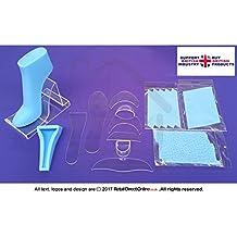 Fondant alta Talón Zapato de | Kit + 2Textura alfombrillas + azul transparente de polímero de pie molde | | 13piezas | decoración de pasteles Toppers | entrega gratuita | decoración de pasteles y tartas Craft herramienta