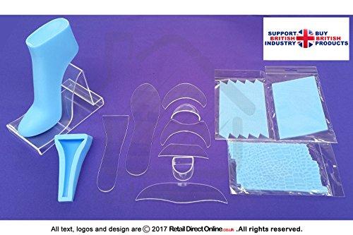 fondant high heel Fondant High Heel   Schuh Kit + 2Textur Matten + Blau Fuß Form   Polymer transparent   13Teile   Kuchen Dekoration Topper   Kostenlose Lieferung   Kuchen dekorieren und Kuchen, Craft Werkzeug