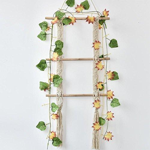 WXGY Handgewebte natürliche Baumwolle Garn Wandkunstausgangsdekor-hängender Dekor-Speicher-hängendes Seil -