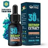 Hemp Oil Extract 30% by HempKing -High Strength Hemp Oil 3000mg - Organic