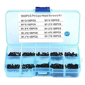 M1,4 Schrauben Set Sortiment Gewindeschrauben Blechschrauben 400x mini M1,2