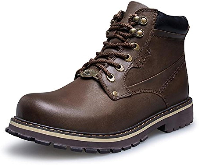 Stivaletti da trekking in pizzo da uomo, invernali, caldi e alla caviglia , 42 , Marronee | Good Design  | Maschio/Ragazze Scarpa