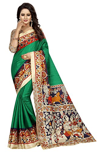 FabDiamond Cotton Saree With Blouse Piece (FWS1746_Free Size)
