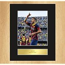 Autogramm von Neymar FC Barcelona, mit Foto, gerahmt