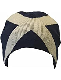 Mens Scotland Cross Design Winter Beanie Hat