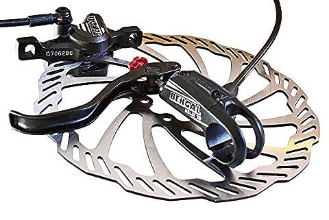 HELIX 7B Scheibenbremse Mtb - Bengal Hydraulik Disc Bremse schwarz. (Shimano Vorne Disc Adapter)