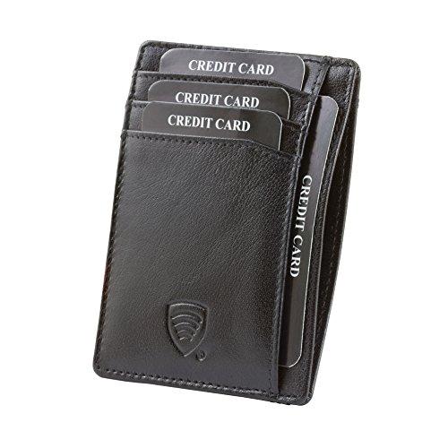 KORUMA® RFID Kartenhalter - schlankes Design - Voll zertifizierten Schutz - 100% Büffelleder - TAP&GOTM Funktion - braun Farbe - Geschenkkarton - handgemachte (KUK-63SNBBL)