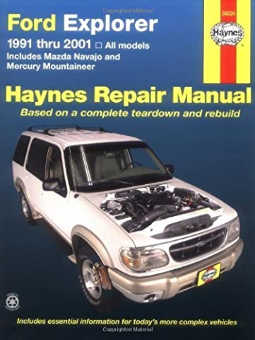 Ford Explorer 91-2001, incl Mazda Navajo/Mercury Mountaineer (Haynes Automotive Repair Manual Series) 1st edition by (Ford Explorer Manuale)