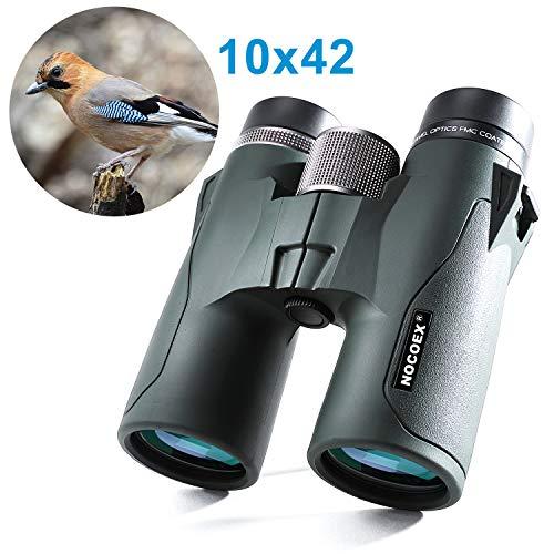 NOCOEX 10x42 HD Jumelles Compact Prisme de Toit, étanche, Anti-Brouillard Et Anti-Chocs, Convient pour Observation d'Oiseaux, Paysages Et Chasse, Kak