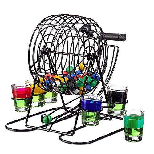 Fun Cooperation Trinkspiel Bingo   Das Beste Trinkspiel für Jeden Anlass! Inkl. 6 Shotgläser  Die Perfekte Geschenkidee!