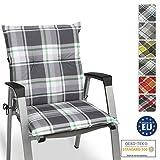 Beautissu Cojín para sillas de Exterior y jardín con Respaldo bajo Sunny MK Verde100x50x6 cm tumbonas, mecedoras, Asientos cómodo Acolchado gomaespuma Resistente a Rayos UV