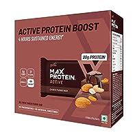 RiteBite Max Protein Active Choco Fudge Bars 450g Pack of 6 (75g x 6)