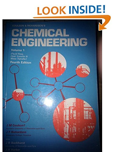 Chemical Engineering: Solutions to the Problems in Volume 1 1st edition by Backhurst, J R, Harker, J H, Richardson, J.F. (2001) Paperback
