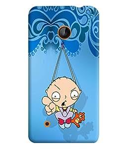 PrintVisa Cute Cartoon Modern Art 3D Hard Polycarbonate Designer Back Case Cover for Nokia Lumia 530
