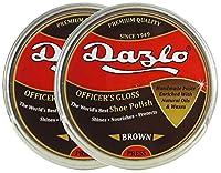 Dazlo® Shoe Polish - Brown - 80g (2x40g) - Export Quality