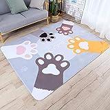 YUGUO Tapis Cartoon Cat Palm Carpet Kids Room Home Soft Tatami Floor Mat Children Play Game Rug Carpets Living Room