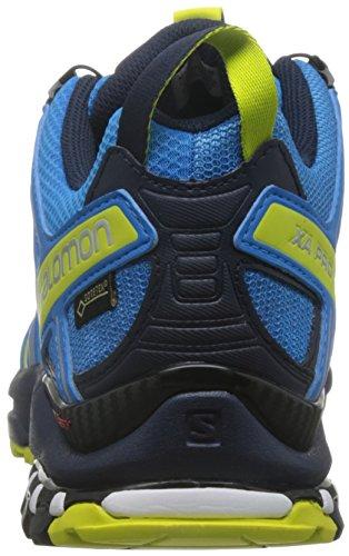 Salomon Homme XA Pro 3D, Black/Magnet/Quiet Shade, Synthétique/Textile, Chaussures de Course à Pied et Trail Running, Taille 44.6 Blau (Cloisonné/navy Blazer/sulphur Sprin)