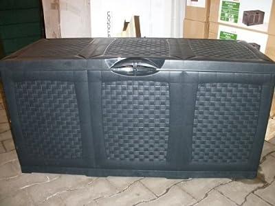 Hippo Kissentruhe Auflagenbox Kissenbox Gartenkissenbox Box anthrazit Modell 2012