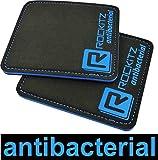 ROCKITZ ANTIBAKTERIELLE Fitness Grip Pads - WELTNEUHEIT - maximaler Grip & Polsterung - vergesst Fitnesshandschuhe & Handschuhe fürs Training (Blau)