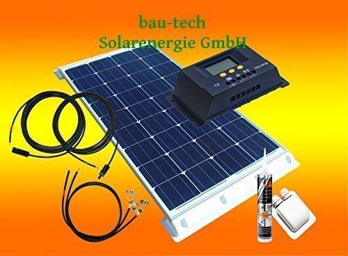bau-tech Solarenergie 100Watt WoMo Solaranlage Komplettpaket für Wohnmobile, Boote, Camping u.v.m GmbH