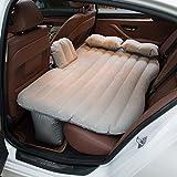 MIAO Beflockungs Auto aufblasbares Matratzen Luft Bett mit aufblasbarer Pumpe und aufblasbarem Kissen * 2 , gray