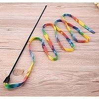 Ice.mask Funny Cat Rod Cat Toy Rainbow Tela Thin Rod Cuerda interactiva Cat Toys 1pc