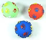 PeSoBo Hundespielzeug Hundeball 3 Stück Hunde Ball Squeaker Spielball