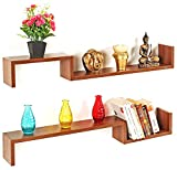 Bluewud Riley Wall Shelf (Walnut)