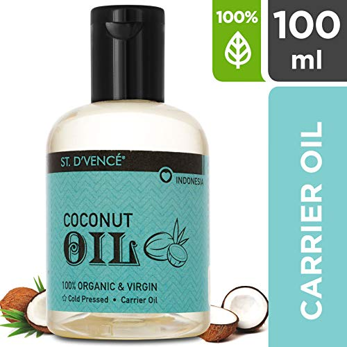 ST. D'VENCÉ Organic and Virgin Coconut Coldpressed Natural Carrier Oil (100 ml)