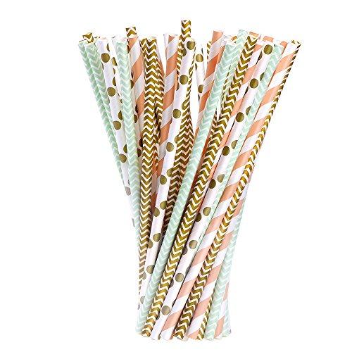 100 pajitas de papel