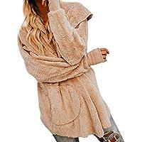 Chaqueta Suéter Abrigo Jersey Mujer Invierno Cardigan Mujer Chaqueta Punto Abrigo de Mujer de Manga Larga Mujeres Chaqueta con Capucha Bolsillo Abrigo Chaqueta Abrigos QINGXIA_ZI