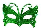 Vert à Paillettes et strass pour bal masqué Fancy Dress Masque