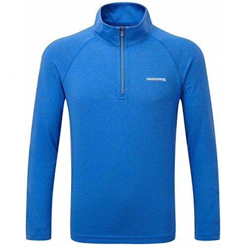 Craghoppers Nosilife Ace Kinder Long Sleeve Half Zip Top Sport Blau 11 - 12 Jahre -