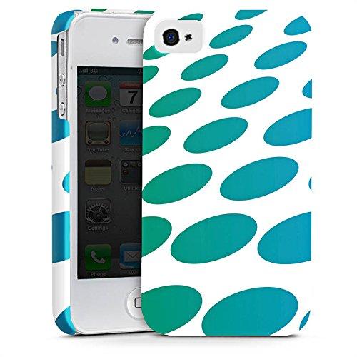 Apple iPhone X Silikon Hülle Case Schutzhülle Punkte Muster Abstrakt Premium Case glänzend