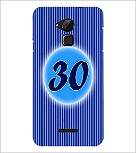 PrintDhaba Numerology Number 30 D-2589 Back Case Cover for COOLPAD NOTE 3 LITE (Multi-Coloured)