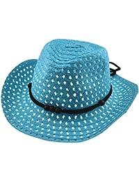 Sombrero De Paja Respirable Del Sombrero Del Sol Del Verano Del Niña Y Niño  AIMEE7 Sombrero De Sol De Gorra De Playa De Primavera… a4785ce54a4