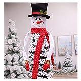Deggodech Bianca Topper Albero di Natale Grande Cappello Pupazzo di Neve Hugger Ornamento per Decorazioni Natalizie per Albero Supplies (Small)