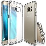Funda Galaxy S7 Edge, Ringke [FUSION] Choque Absorcin TPU Parachoques [Choque Tecnologa Absorcin][Conviviente tapn antipolvo] para Samsung Galaxy S7 Edge - Clear